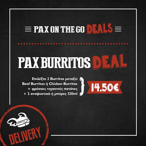 Pax Burritos Deal