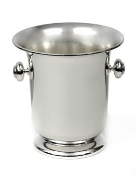 SILVER PLATED CHAMPAGNE BUCKET WITH HANDLES
