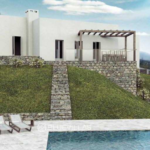 Luxurious 2 double bedroom villa with private pool and sea view near Rethymno town