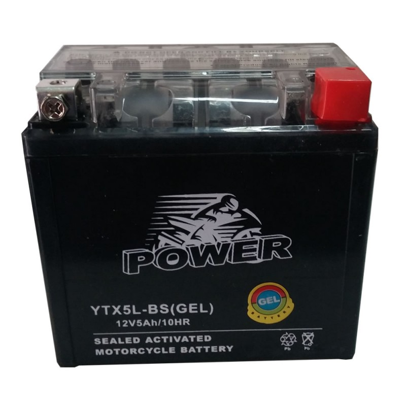 GEL MOTO POWER YTX5L-BS 12V 5AH