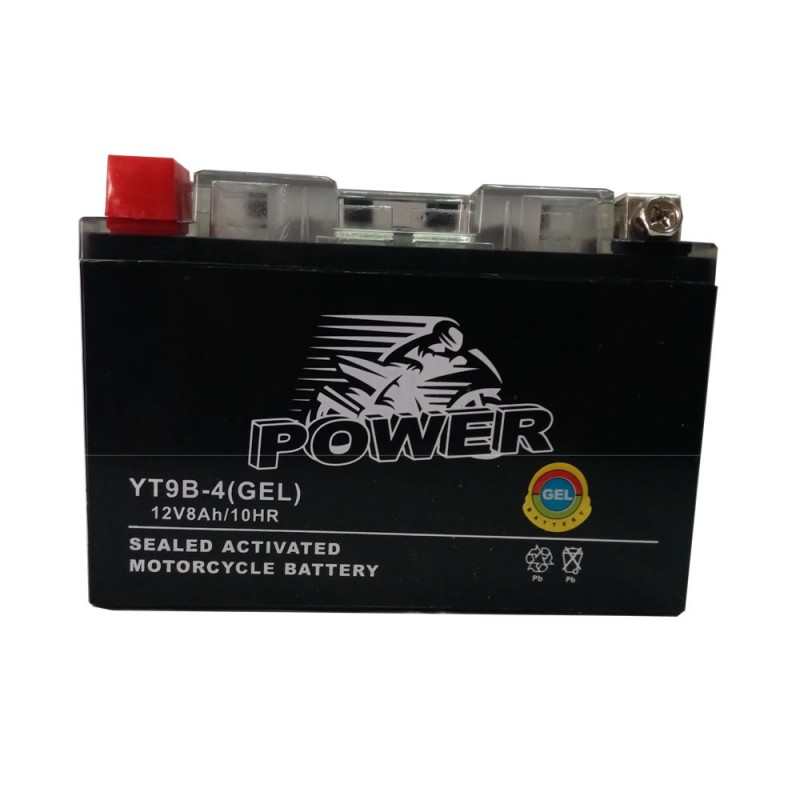 GEL MOTO POWER YT9B-4 12V 8AH